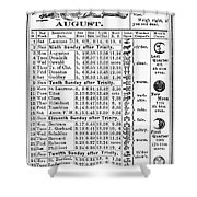 Family Almanac, 1874 Shower Curtain