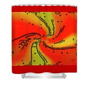 Fantasy In Red Shower Curtain