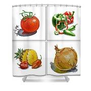 Farmers Market Delight  Shower Curtain