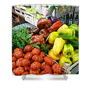 Farmers Market Florence Italy Shower Curtain
