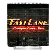 Fast Lane In Lights Shower Curtain