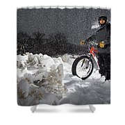 Fat Tire Bike Shower Curtain