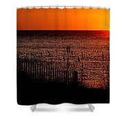 Fence And The Sun Shower Curtain