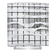 Fence With Snow Shower Curtain