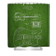 Fender Electric Guitar Patent Drawing From 1966 Shower Curtain