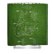 Fender Guitar Patent Drawing From 1960 Shower Curtain