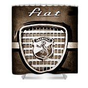 Fiat Abarth Emblem Shower Curtain
