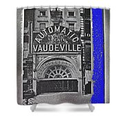 Film Homage Automatic 1 Cent Vaudeville Peep Show Arcade C.1890's New York City Collage 2013 Shower Curtain
