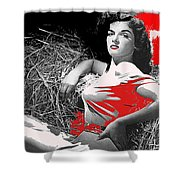 Film Homage Jane Russell The Outlaw 1943 Publicity Photo Photographer George Hurrell 2012 Shower Curtain