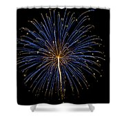 Fireworks Bursts Colors And Shapes Shower Curtain
