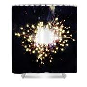 Fireworks Shell Burst Shower Curtain by Jay Droggitis