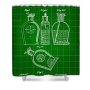 Flask Patent 1888 - Green Shower Curtain