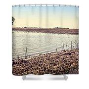 Flooded Farmland Shower Curtain