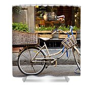 Florence Bicycle  Shower Curtain