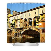 Florence Italy Ponte Vecchio Shower Curtain