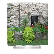 Flower Bed Shower Curtain