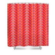 Flower Petal Petal Art From Cherryhill Nj America Micro Patterns Red Color Tones Light Shades Shower Curtain