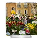 Flowers At Market Shower Curtain