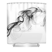 Fluidity No. 1 Shower Curtain