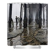 Fog At The Pier Shower Curtain