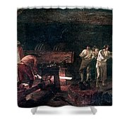 Foundry, 18th Century Shower Curtain