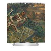 Four Dancers Shower Curtain by Edgar Degas