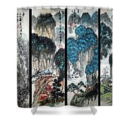 Four Seasons In Harmony Shower Curtain