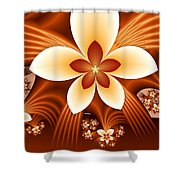 Fractal Fantasy Flowers Shower Curtain