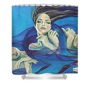 Fragments Of Longing  Shower Curtain