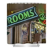 Fresh Restrooms Shower Curtain