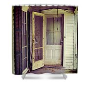 Front Door Of Abandoned House Shower Curtain