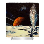 Frozen Geyser Shower Curtain