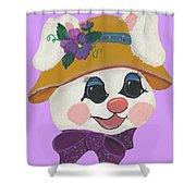 Funny Bunny Shower Curtain