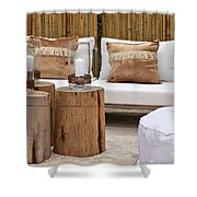 Garden Seating Area Shower Curtain