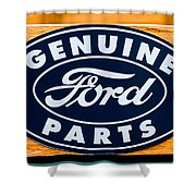 Genuine Ford Parts Sign Shower Curtain