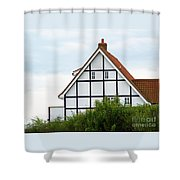 Geometry In Black On White Shower Curtain
