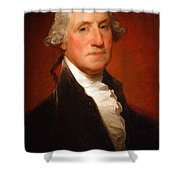 George Washington By Gilbert Stuart -- 2 Shower Curtain