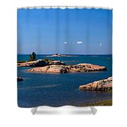 Georgian Bay Coastline Shower Curtain