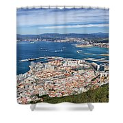 Gibraltar City And Bay Shower Curtain