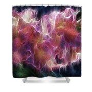 Gladiola Nebula Shower Curtain