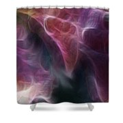 Gladiola Nebula Triptych Panel 3 Shower Curtain