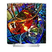 Glass Abstract 691 Shower Curtain