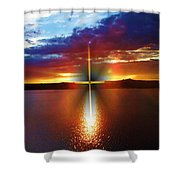 Glory In The Cross Shower Curtain