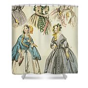 Godey's Lady's Book, 1842 Shower Curtain