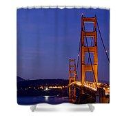 Golden Gate Bridge At Night Shower Curtain