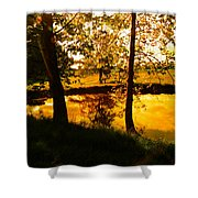 Golden Pond 3 Shower Curtain
