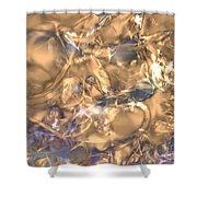 Golden Synapse Shower Curtain