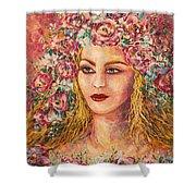 Good Fortune Goddess Shower Curtain