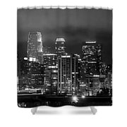 Gotham City - Los Angeles Skyline Downtown At Night Shower Curtain