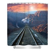 Grand Canyon Collage Shower Curtain